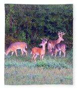 Deer-img-0160-005 Fleece Blanket