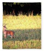 Deer-img-0627-001 Fleece Blanket