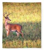 Deer-img-0627-002 Fleece Blanket