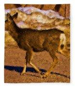 Deer In A Different Light Fleece Blanket