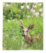 Deer In Magee Marsh Fleece Blanket