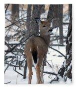 Deer In The Grove Fleece Blanket