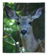 Deer In The Woods Fleece Blanket