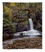 Deer Leap Falls Fleece Blanket