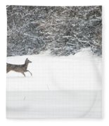 Deer Running Fleece Blanket