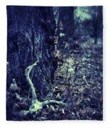 Deer Skull In Forest Fleece Blanket