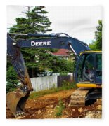 Deere For Hire Fleece Blanket