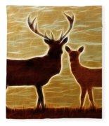 Deers Lookout Fleece Blanket