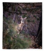 Deer's Stomping Grounds. Fleece Blanket