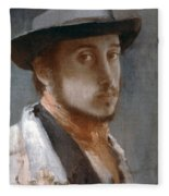 Degas Self-portrait Fleece Blanket