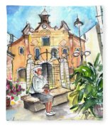 Del Carmen Church In Cartagena Fleece Blanket