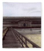 Del Monte Bathhouse From Pier California  Circa 1890 Fleece Blanket