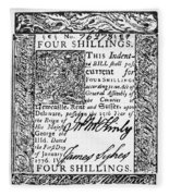 Delaware Banknote, 1776 Fleece Blanket