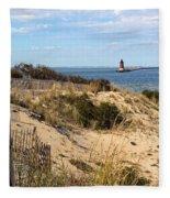 Delaware Breakwater East End Light Fleece Blanket