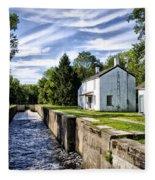 Delaware Canal Kingston New Jersey Fleece Blanket