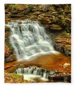 Delaware Falls - Ricketts Glen Fleece Blanket