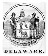 Delaware State Seal Fleece Blanket