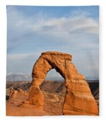 Delicate Arch At Sunset Fleece Blanket