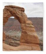 Delicate Arch Landscape Fleece Blanket