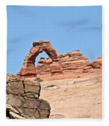 Delicate Arch Fleece Blanket