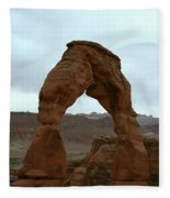 Delicate Arch View Fleece Blanket