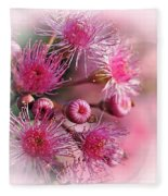 Delicate Buds And Blossoms Fleece Blanket