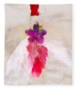 Delicate Dance - Impressionistic Dancer Fleece Blanket