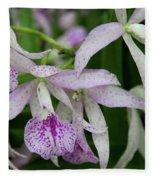 Delicate Orchid Blossoms Fleece Blanket