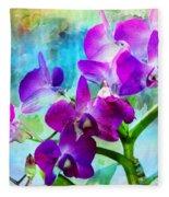 Delicate Orchids Fleece Blanket