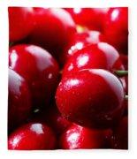 Delicious Cherries Fleece Blanket
