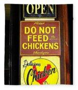 Delicious Chicken Dinners Sign Fleece Blanket