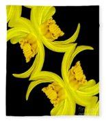 Delightful Daffodil Abstract Fleece Blanket