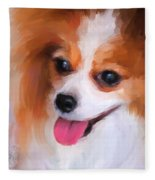 Delightful Papillon Fleece Blanket