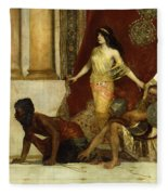 Delilah And The Philistines Fleece Blanket