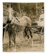 Delivering The Mail 1907 Fleece Blanket