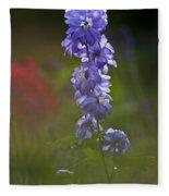 Delphinium Blossom Fleece Blanket