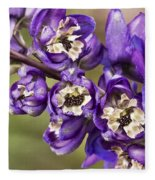 Delphinium Fleece Blanket