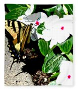 Delta Butterfly Cafe Fleece Blanket