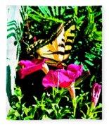 Delta Butterfly Dazes Fleece Blanket