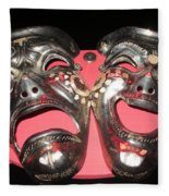 Masques / Tragedy/comedy Masks Fleece Blanket