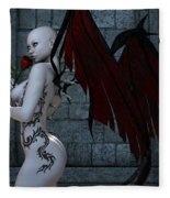Demonic Love Fleece Blanket