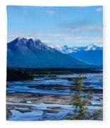 Denali Mountain Range Fleece Blanket