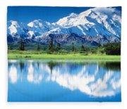 Denali National Park Ak Usa Fleece Blanket