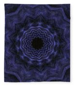 Denim Blues Mandala - Digital Painting Effect Fleece Blanket