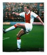 Dennis Bergkamp Ajax Fleece Blanket