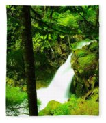 Denny Camp Falls  Fleece Blanket