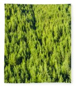 Dense Forest Fleece Blanket
