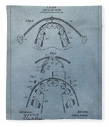Dental Braces Patent Design Fleece Blanket