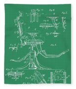 Dental Chair Patent Fleece Blanket