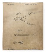 Dental Pliers Patent Design Fleece Blanket